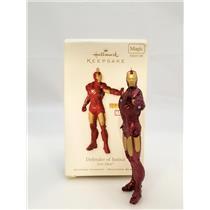 Hallmark Magic Ornament 2010 Defender of Justice - Iron Man - Tony Stark 2233-DB