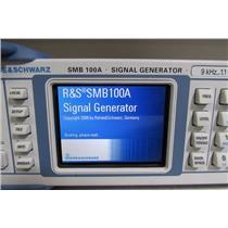 Rohde & Schwarz SMB100A Signal Generator, 9kHz-1.1GHz, SMB 100A, Opt B5, B101