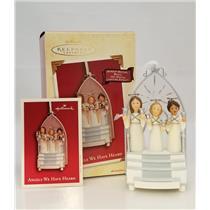 Hallmark Magic Ornament 2003 Angels We Have Heard - Singing Angel Choir #QLX7527