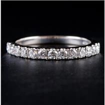14k White Gold Round Cut Diamond Wedding Anniversary Ring / Band .39ctw