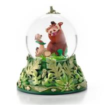 Hallmark Disney Lion King Hakuna Matata Timon & Pumbaa Water Snow Globe #CLX2010