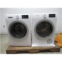 """Bosch 500 24"""" Front Load Washer & Dryer SET+Stacking Kit WAT28401UC / WTG86401UC (PRICE CHECK)"""