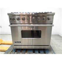 """Viking Professional Series 36"""" Convection Oven Pro-Style Gas Range VGSC5366BSS"""