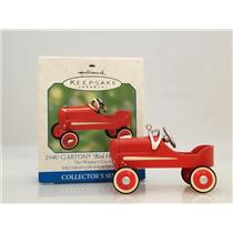 Hallmark Ornament 2000 The Winners Circle #4 - 1940 Red Hot Roadster QEO8404-SDB