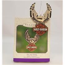 Hallmark Keepsake Ornament 2000 Bar and Shield - Harley Davidson - #QEO8544-DB