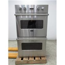 """Viking Professional Series 30"""" Double Dual Flow Convection Wall Oven VEDO1302SS"""