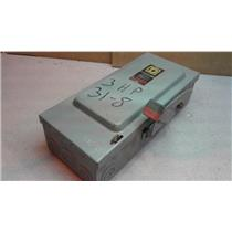 SquareD Safety Switch H361N 30A 600V