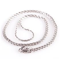 "Classic 14k White Gold Wheat Chain / Necklace 20"" Length 4.7g"