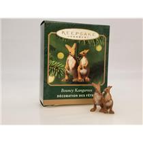 Hallmark Miniature Ornament 2001 Bouncy Kangaroos - Noah's Ark - #QXM5332