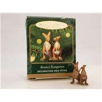 Hallmark Miniature Ornament 2001 Bouncy Kangaroos - Noah's Ark - #QXM5332-DB