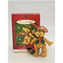 Hallmark Series Ornament 2001 Gift Bearers #3 - Porcelain Bear - #QX8115