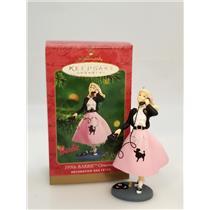 2001 Hallmark Ornament 1950's Barbie Ornament - Poodle Skirt Barbie - #QXI8882