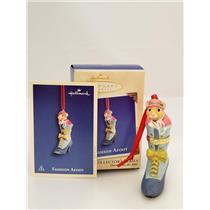 Hallmark Series Ornament 2002 Fashion Afoot #3 - Porcelain Hinged Box - #QX8116