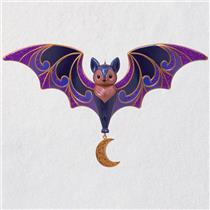 Hallmark Halloween Ornament 2018 Bewitching Bat - Bat with Moon - #QFO5236