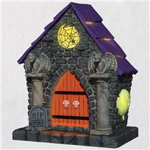 Hallmark Magic Ornament 2018 Ghostly Mausoleum - Haunted House - #QFO5253