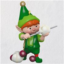 Hallmark Series Ornament 2018 North Pole Tree Trimmers #6 - Holiday Elf - QX9416