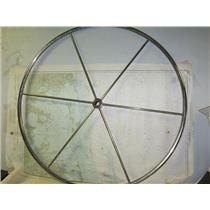 "Boaters Resale Shop of TX 1808 0721.01 STEEL 42"" STEERING WHEEL FOR 1"" SHAFT"