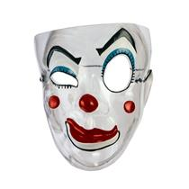 Creepy Transparent Wink Clown Mesh Evil Clown Plastic Mask