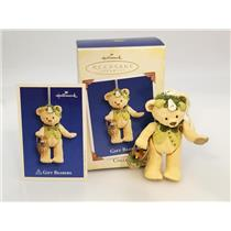 Hallmark Series Ornament 2005 Gift Bearers #7 - Porcelain Bear - #QX2222