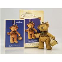 Hallmark Series Ornament 2004 Gift Bearers #6 - Porcelain Bear - #QX8401