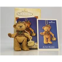 Hallmark Series Ornament 2004 Gift Bearers #6 - Porcelain Bear - #QX8401-DB