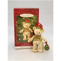 Hallmark Series Ornament 2000 Gift Bearers #2 - Porcelain Bear - #QX6651