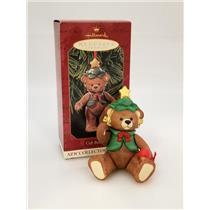 Hallmark Series Ornament 1999 Gift Bearers #1 - Porcelain Teddy Bear #QX6437-SDB