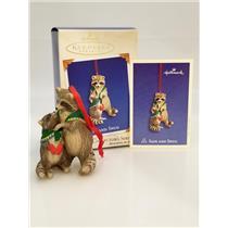 Hallmark Series Ornament 2003 Safe and Snug #3 - Porcelain Raccoons - QX8217-SDB