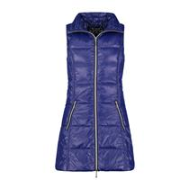 Sz M NEW My Anorak Long Down The New Nylon Vest in Sapphire Blue