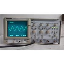 GW Instek GOS-6112 2-CH 100MHz Oscilloscope (Missing Handle / Damaged Faceplate)
