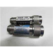 Agilent HP 8491B Coaxial Fixed Attenuator, DC to 18 GHz, 3dB & 6dB