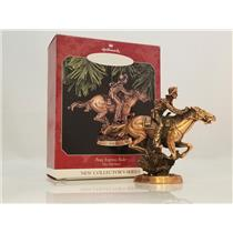 Hallmark Series Ornament 1998 The Old West #1 - Pony Express Rider - #QX6323-SDB