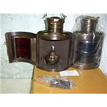 Boaters' Resale Shop of TX 1808 2044.27 PORT & STARBOARD NAUTICAL OIL LAMP SET