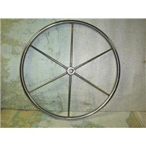 "Boaters' Resale Shop of TX 1808 2155.05 SS 24"" STEERING WHEEL FOR 1"" SHAFT"