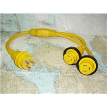 Boaters' Resale Shop of TX 1808 2752.47 MARINCO 157AY 30A SHOREPOWER Y-ADAPTOR