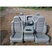2003 - 2007 FORD F350 F250 LARIAT CREW GREY LEATHER SEATS WITH CONSOLE FREE SHIP