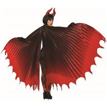 Devil Theatrical Demon Wings Cape, Red, Standard