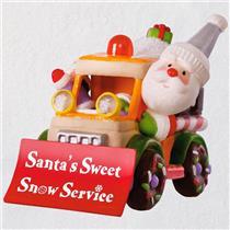 Hallmark Magic Ornament 2018 Santa's Sweet Snow Plow -  A Sweet Ride - #QGO1916