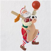 Hallmark Series Ornament 2018 Toymaker Santa #19 - Sports Santa Claus - #QX9393