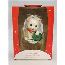 Carlton Heirlom Ornament 2018 Cute Kitten - Kitty with Yarn - #CXOR038O