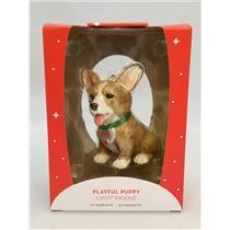 Carlton Heirlom Ornament 2018 Playful Puppy - Corgi - #CXOR037O