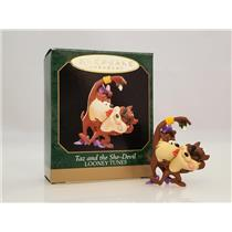 Hallmark Miniature Ornament 1999 Taz and the She-Devil - Looney Tunes - #QXM4619