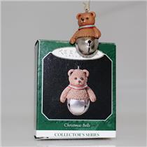 Hallmark Miniature Series Ornament 1998 Christmas Bells #4 - Teddy  #QXM4196-SDB