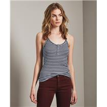 Adriano Goldschmied Women's Rima Striped Tank Top in Blueberry/Heather Grey