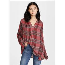 M Free People Fearless Love Red Blouse