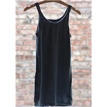 All Day NSF Women's Air Slim Tank Top In Pigment Black (Distressed)