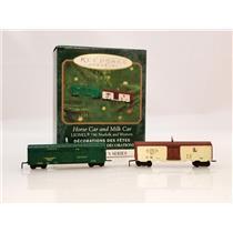 Hallmark Miniatures 2000 Lionel Norfolk & Western - Horse Car and Milk Car #5971
