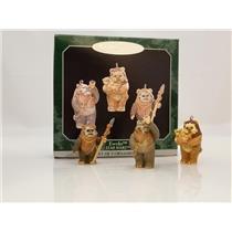 Hallmark Keepsake Miniature Ornament Set 1998 Ewoks - Star Wars - #QXI4223