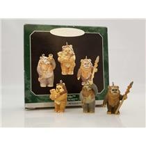 Hallmark Keepsake Miniature Ornament Set 1998 Ewoks - Star Wars - #QXI4223-SDB