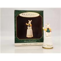 Hallmark Series Ornament 1997 Alice in Wonderland #3 - White Rabbit - #QXM4142